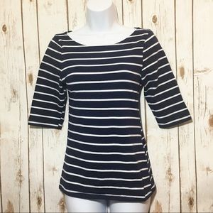 Tops - LOVE CULTURE 3/4 sleeve striped tee